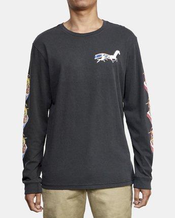 2 Spanky Gallop Long Sleeve T-Shirt Black M456WRGA RVCA
