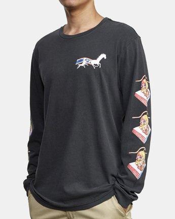 3 Spanky Gallop Long Sleeve T-Shirt Black M456WRGA RVCA