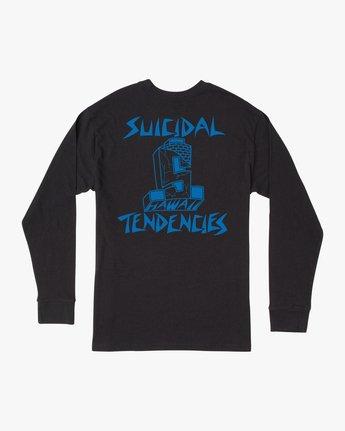 1 RVCA x Suicidal Tendencies Long Sleeve T-Shirt Black M459TRSU RVCA
