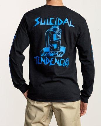6 RVCA x Suicidal Tendencies Long Sleeve T-Shirt Black M459TRSU RVCA