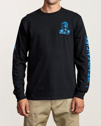 2 RVCA x Suicidal Tendencies Long Sleeve T-Shirt Black M459TRSU RVCA