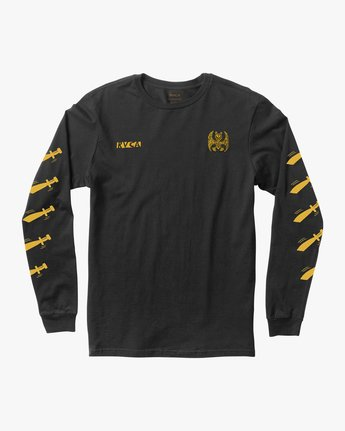 1 Grillo Bat Long Sleeve T-Shirt  M460QRGR RVCA
