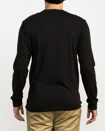 3 Pinner Long Sleeve T-Shirt Black M460QRRV RVCA