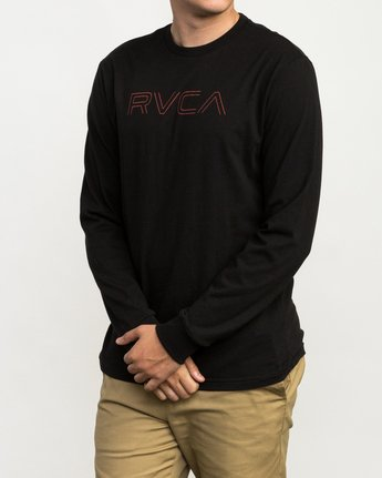 2 Pinner Long Sleeve T-Shirt Black M460QRRV RVCA