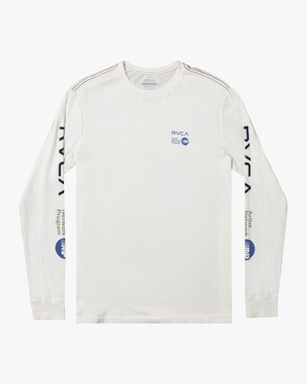1 ANP LONG SLEEVE TEE White M4631RAN RVCA