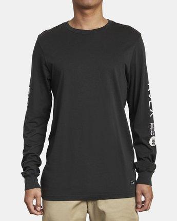 1 ANP LONG SLEEVE T-SHIRT Black M4631RAN RVCA