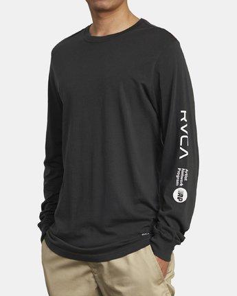3 ANP LONG SLEEVE T-SHIRT Black M4631RAN RVCA