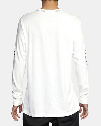 3 ANP LONG SLEEVE TEE White M4631RAN RVCA