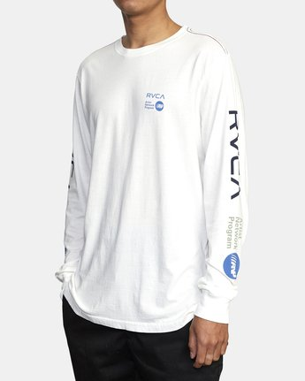 4 ANP LONG SLEEVE TEE White M4631RAN RVCA