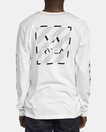 6 HAZARD LONG SLEEVE T-SHIRT White M4631RHA RVCA