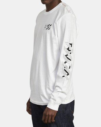 5 HAZARD LONG SLEEVE T-SHIRT White M4631RHA RVCA