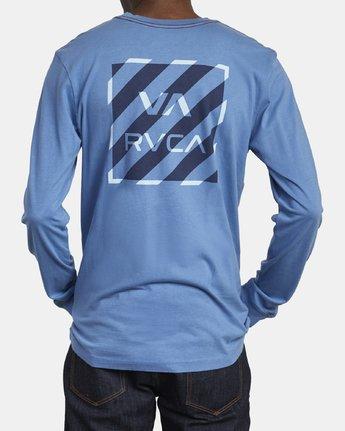 6 HAZARD LONG SLEEVE T-SHIRT Blue M4631RHA RVCA