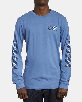 2 HAZARD LONG SLEEVE T-SHIRT Blue M4631RHA RVCA