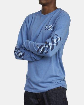 4 HAZARD LONG SLEEVE T-SHIRT Blue M4631RHA RVCA