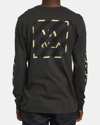 6 HAZARD LONG SLEEVE T-SHIRT Black M4631RHA RVCA