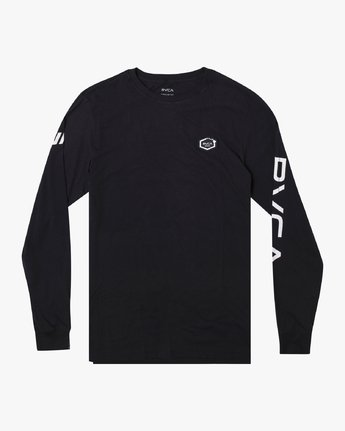 0 TIGER CAM LONG SLEEVE T-SHIRT Black M4631RTC RVCA