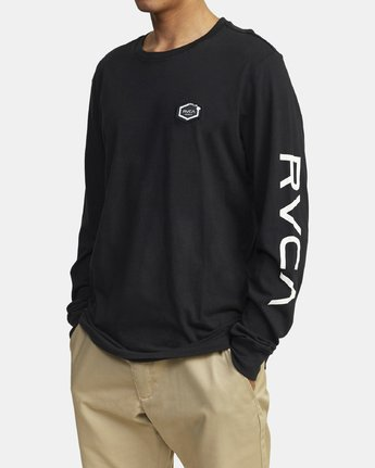 2 TIGER CAM LONG SLEEVE T-SHIRT Black M4631RTC RVCA