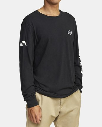3 TIGER CAM LONG SLEEVE T-SHIRT Black M4631RTC RVCA