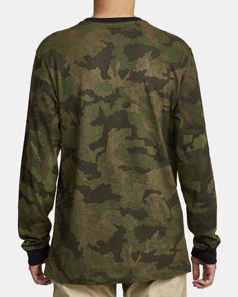 2 BOAR HUNT CAM LONG SLEEVE T-SHIRT Brown M4632RBO RVCA