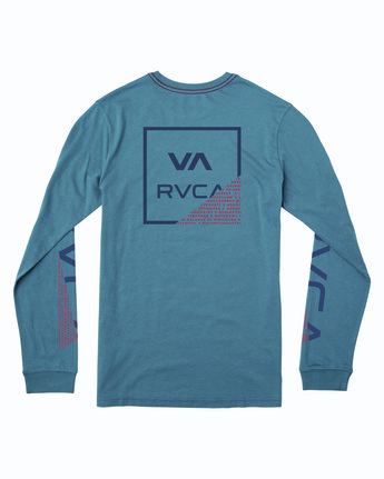 1 FRACTION LONG SLEEVE T-SHIRT Blue M4633RFR RVCA