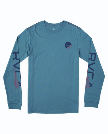 0 FRACTION LONG SLEEVE T-SHIRT Blue M4633RFR RVCA