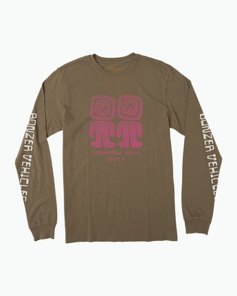 0 Campbell Bonzer Aliens Long Sleeve T-Shirt Brown M463SRBO RVCA
