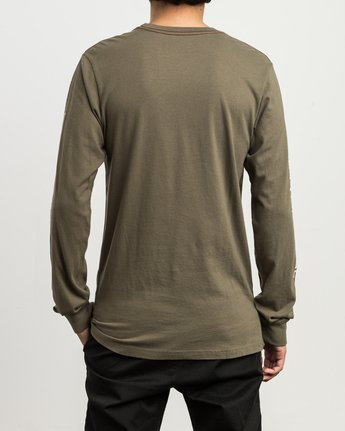 4 Campbell Bonzer Aliens Long Sleeve T-Shirt Brown M463SRBO RVCA