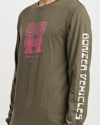 5 Campbell Bonzer Aliens Long Sleeve T-Shirt Brown M463SRBO RVCA