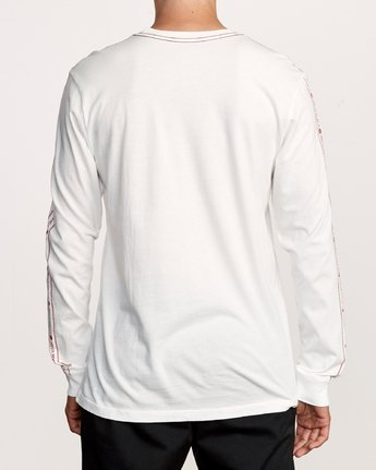 4 Int Haz Long Sleeve T-Shirt White M463VRIH RVCA