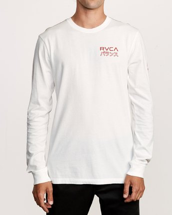 1 Int Haz Long Sleeve T-Shirt White M463VRIH RVCA