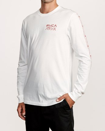 2 Int Haz Long Sleeve T-Shirt White M463VRIH RVCA