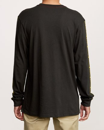 4 Int Haz Long Sleeve T-Shirt Black M463VRIH RVCA