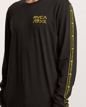 5 Int Haz Long Sleeve T-Shirt Black M463VRIH RVCA
