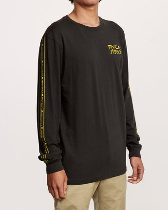3 Int Haz Long Sleeve T-Shirt Black M463VRIH RVCA
