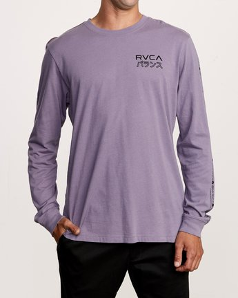2 Int Haz Long Sleeve T-Shirt Purple M463VRIH RVCA