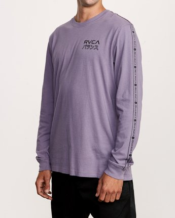 3 Int Haz Long Sleeve T-Shirt Purple M463VRIH RVCA