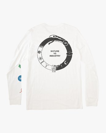 0 Infinity Long Sleeve T-Shirt White M463VRIN RVCA