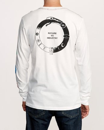 4 Infinity Long Sleeve T-Shirt White M463VRIN RVCA