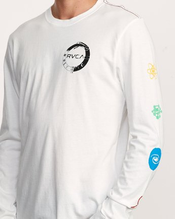 5 Infinity Long Sleeve T-Shirt White M463VRIN RVCA
