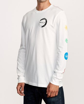 3 Infinity Long Sleeve T-Shirt White M463VRIN RVCA