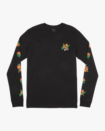 1 Grisancich Jungle Long Sleeve T-Shirt Black M463VRJU RVCA