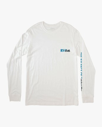 1 Teared Long Sleeve T-Shirt White M463VRTE RVCA