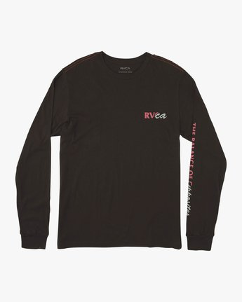 1 Teared Long Sleeve T-Shirt Black M463VRTE RVCA