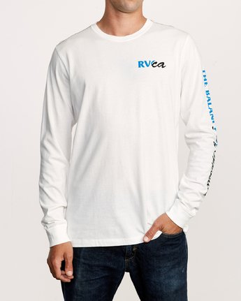 2 Teared Long Sleeve T-Shirt White M463VRTE RVCA