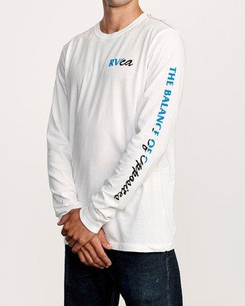 3 Teared Long Sleeve T-Shirt White M463VRTE RVCA