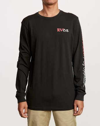 2 Teared Long Sleeve T-Shirt Black M463VRTE RVCA