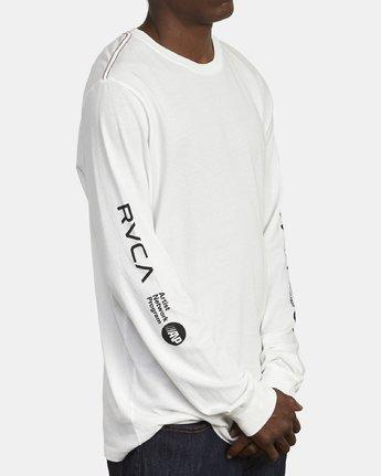 3 ANP Long Sleeve T-Shirt White M463WRAN RVCA