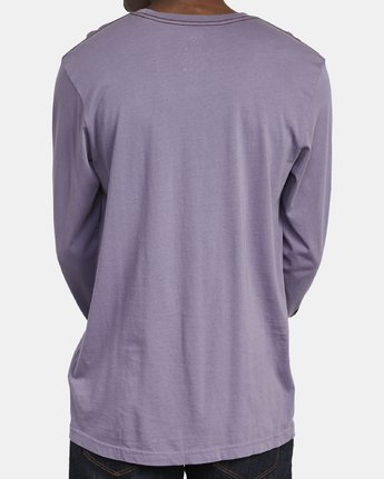 4 ANP Long Sleeve T-Shirt Purple M463WRAN RVCA