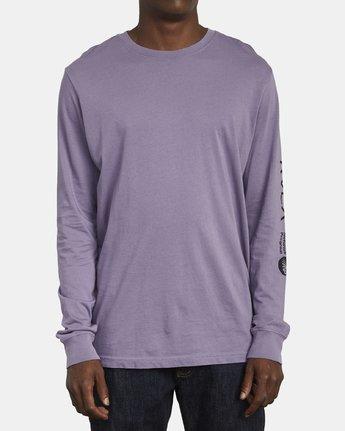 1 ANP Long Sleeve T-Shirt Purple M463WRAN RVCA