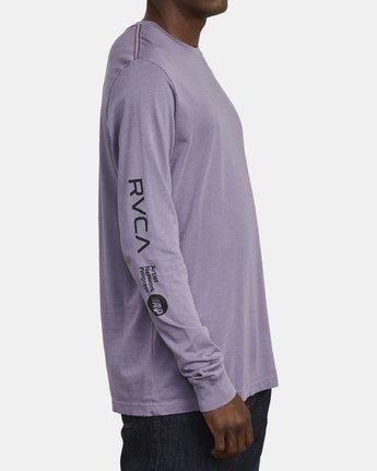 3 ANP Long Sleeve T-Shirt Purple M463WRAN RVCA